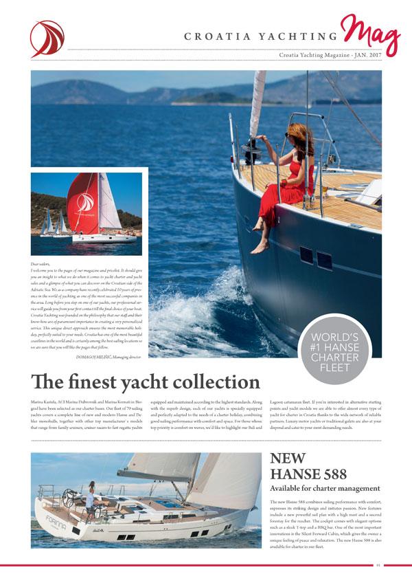Croatia Yachting Rivista January 2017