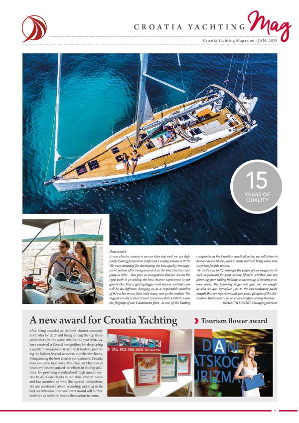 Croatia Yachting Rivista January 2019