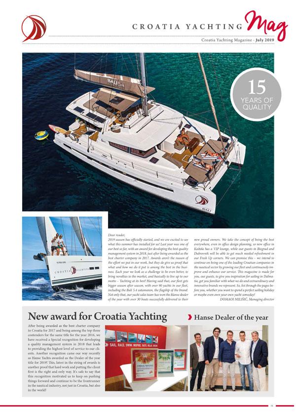 Croatia Yachting Rivista July 2019
